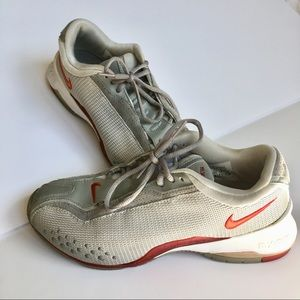 Nike mix Air grey red sneakers size 7